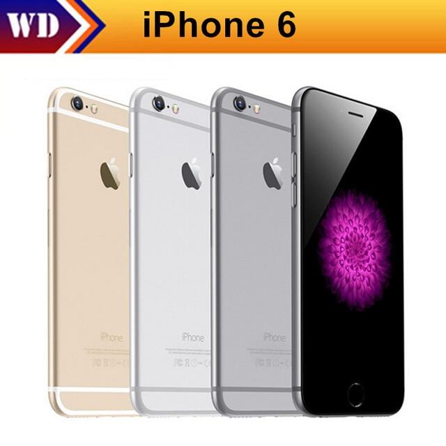 Открыл Apple iPhone 6 сотовых телефонов 1 ГБ Оперативная память 16 ГБ Встроенная память 4.7 'ips GSM WCDMA 4 г LTE используется мобильный телефон Русский склад