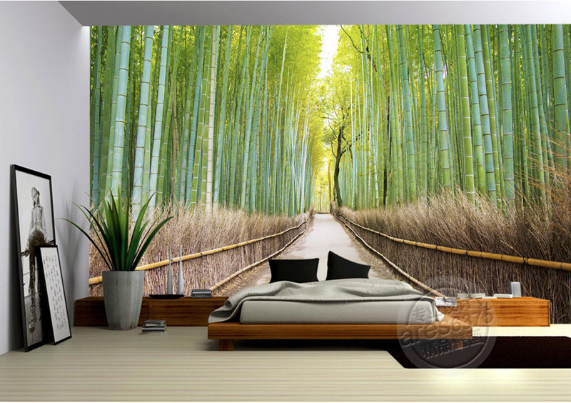 Aliexpress.com : Buy Bamboo Forest Wallpaper Natural Scenery Photo  Wallpaper Custom 3D Wall Murals Bedroom Sitting Room Kids Girl Art Home  Decoration From ... Part 71