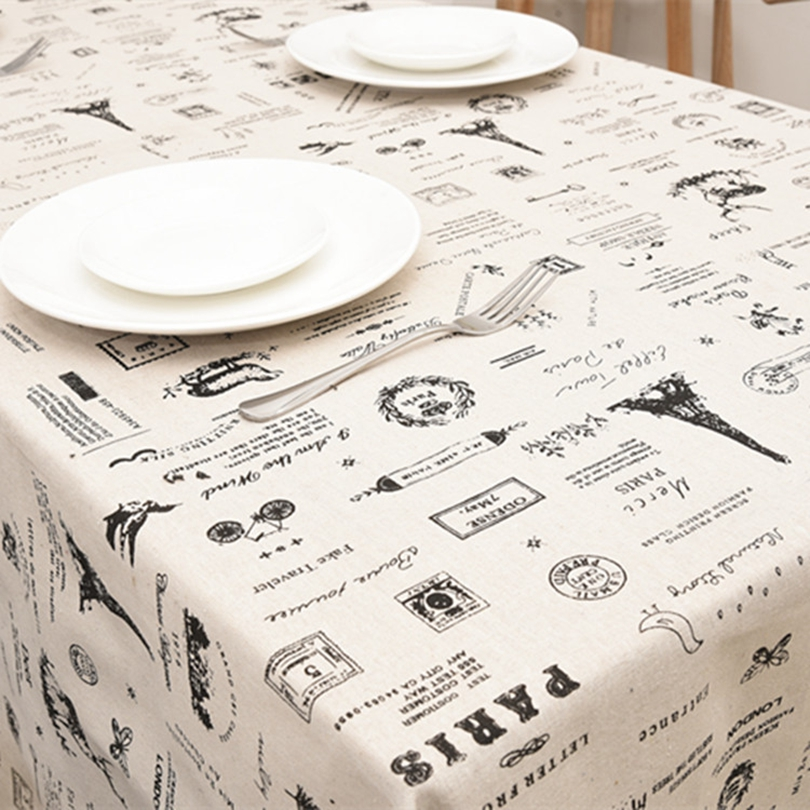 Cartoon Geometric Casual Cotton Linen Tablecloths Decorative Home Decor Table  Cloth High Quality Tablecloth In Tablecloths From Home U0026 Garden On ...