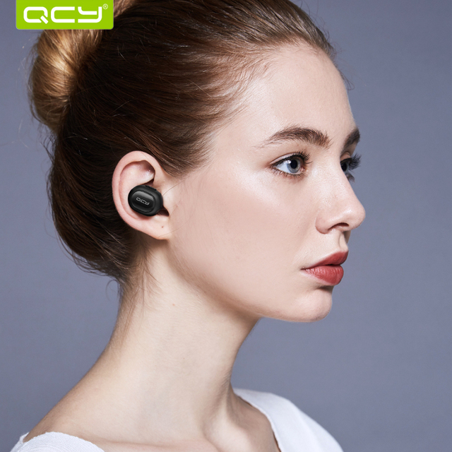 QCY Q26 mono earbud business mini headset car calling wireless headphone bluetooth earphone with Mic for iPhone 6 7 android