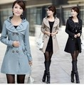 2017 spring and autumn women formal trench coat slim medium-long trench plus size outerwear overcoat for women AC-91