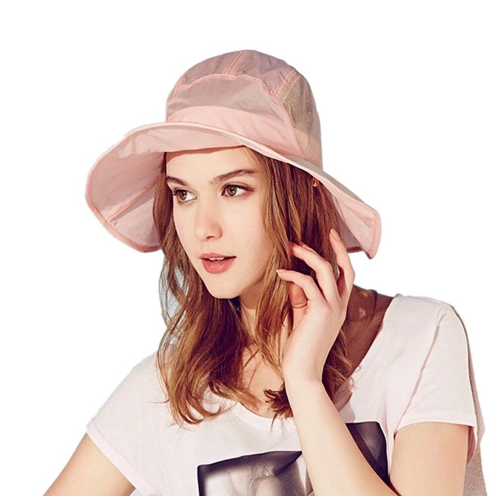 3a1a7428637cf 2015 Kenmont brand Summer Women Beach Outdoor Bucket Sun Hat Portable Mesh  Cap Foldable Anti UV Windproof Fishermen Blue 3148-in Sun Hats from Women s  ...