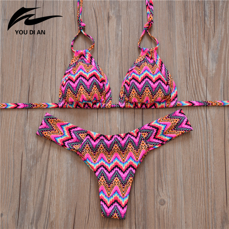 Hot Striped Swimwear Women Sexy Push Up Swimsuit Women Bikini 2018 Low Waist Bikinis Set Bathing Suit Beachwear maillot de bain 2018 sexy cross halter bikini striped floral women swimwear push up padded swimsuit low waist bikinis set beach bathing suits