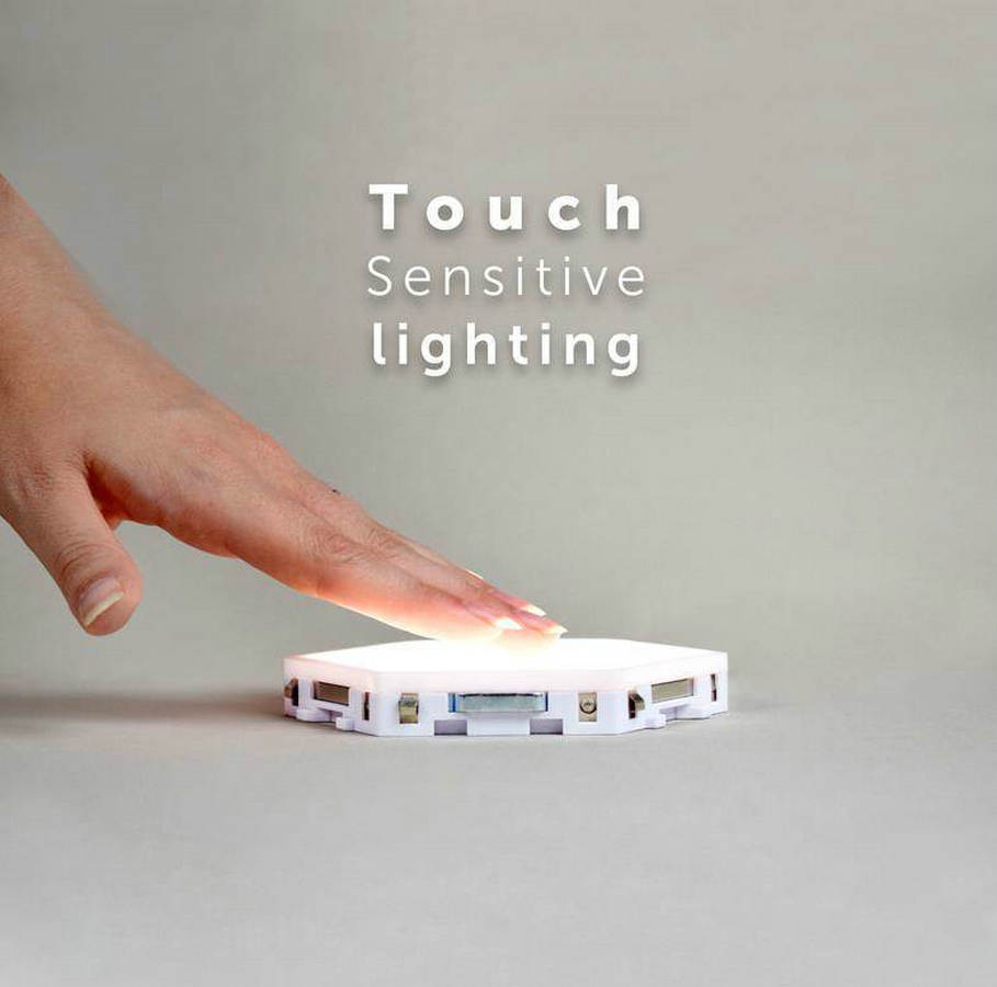 DIY квантовый светильник сенсорный датчик ночной Светильник модульный шестиугольный светодиодный магнитный светильник s настенный светиль... - 5