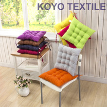 Pintuck Polyester Square Shape Plain Chair Pad Green Purple Pink Yellow Red  Cushion Colorful Home Decor