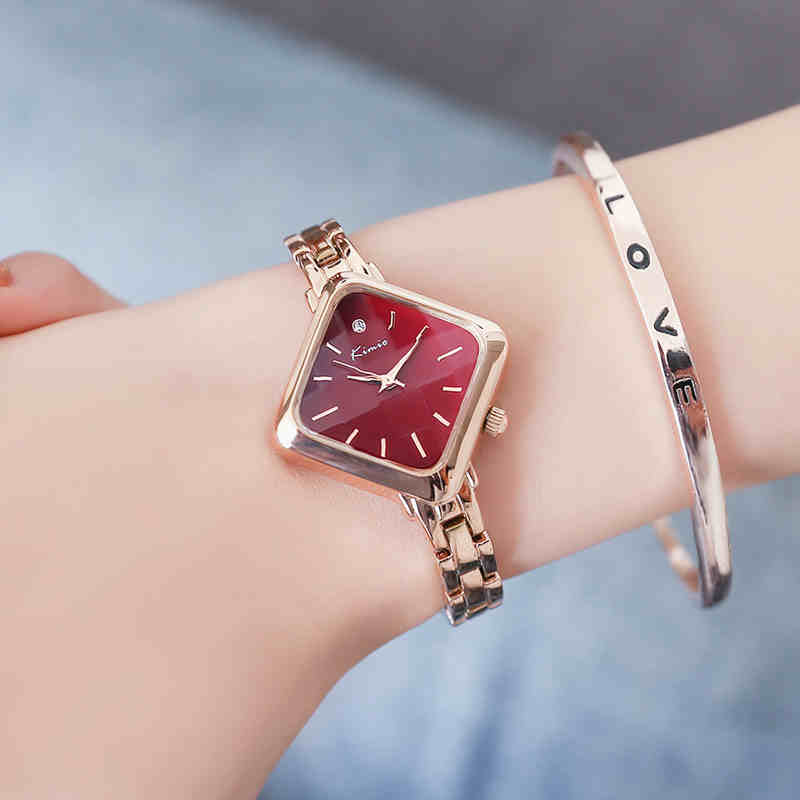 Top Luxury Brand Kimio New Women Bracelet Watches Simple Ladies Rectangle Dress Stainless Steel Band Quartz Watch Women Clock top kimio brand relojes mujer ladies watches luxury women dress stainless steel bracelet quartz watches relogio feminino clock