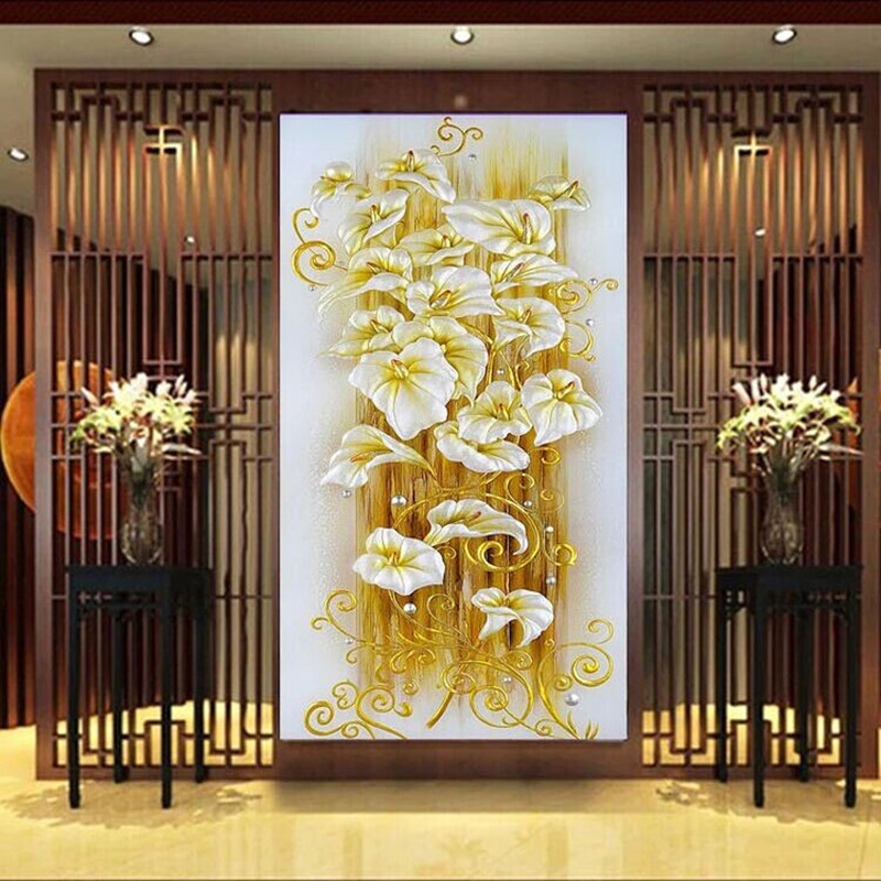 DPF diamond Painting lily flower Cross Stitch 5D diamond embroidery resin flores diamond mosaic paint for gift living room decorDPF diamond Painting lily flower Cross Stitch 5D diamond embroidery resin flores diamond mosaic paint for gift living room decor