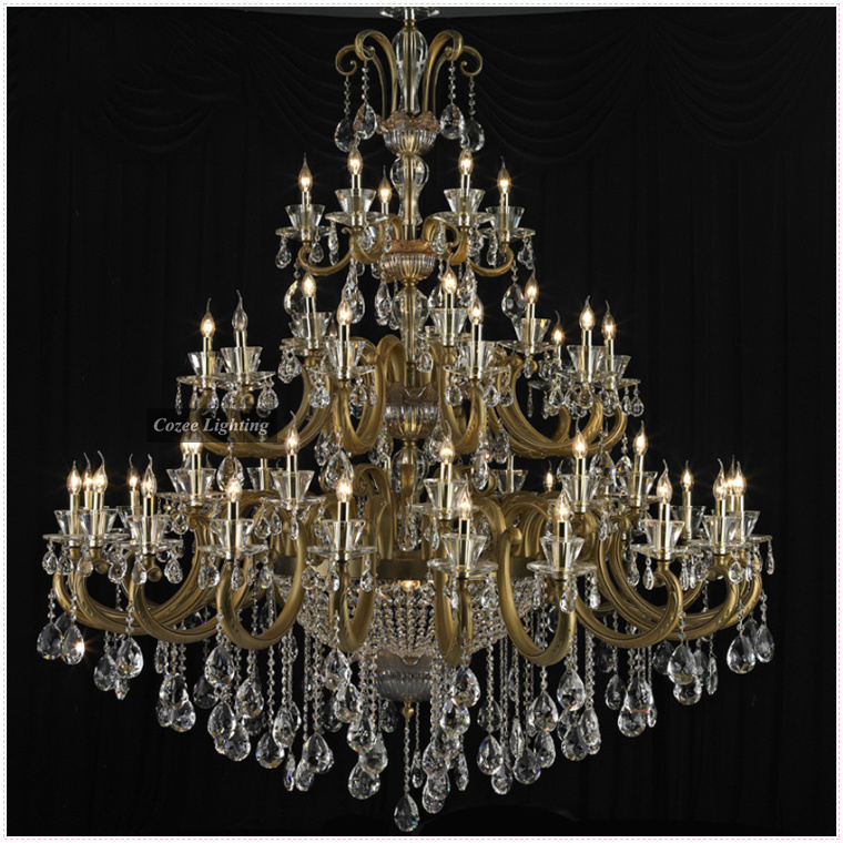 Free Modern Big Large Hotel Lobby Crystal Chandelier Lamp Dubai Lighting Supplier Ce Ul Certified Model Cc N086 55 In Chandeliers From Lights