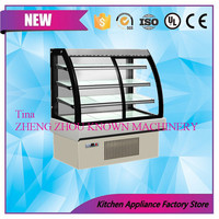 Wholesale promotion refrigerator for cake rotating cake display