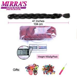 Image 5 - ミラのミラー編組髪純粋な色編み毛延長 82 インチジャンボ編組髪合成 5 個高温繊維