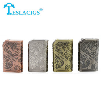 100% Original Tesla Nano 120W TC Box MOD Steampunk Style 120w VW/TC/TCR Box Mod with MemoryFunction Tesla Nano E-cigarette Mod