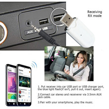 Portable Bluetooth Music Audio Receiver car kit Wireless min