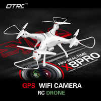 SYMA X8PRO GPS Drone WIFI FPV With 720P HD Camera or Real-time Selfie drone 6-Axis Altitude Hold X8 PRO RC Quadcopter RTF otrc