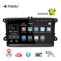 Hikity 2 din Android RDS GPS; стереооборудование для автомобиля радио 9 ''IOS/Android Зеркало Ссылка Автомобильный мультимедийный MP5 плеер поддержка задней ка...
