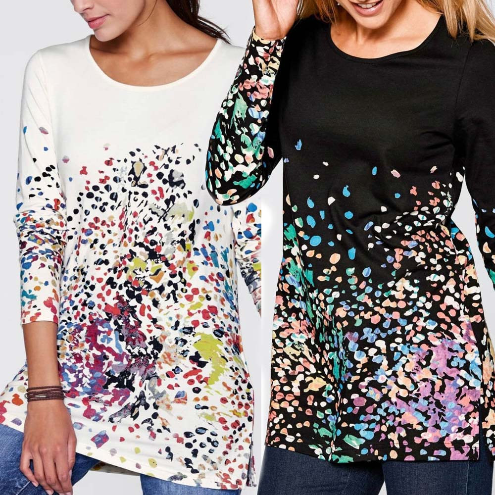 Women Long Sleeve Print Fashion