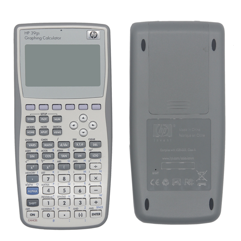 US $18 86 29% OFF|HP Handheld Calculator 39gs Student's Scientific Line  Display Portable Multifunctional Calculator Original Graphics-in  Calculators