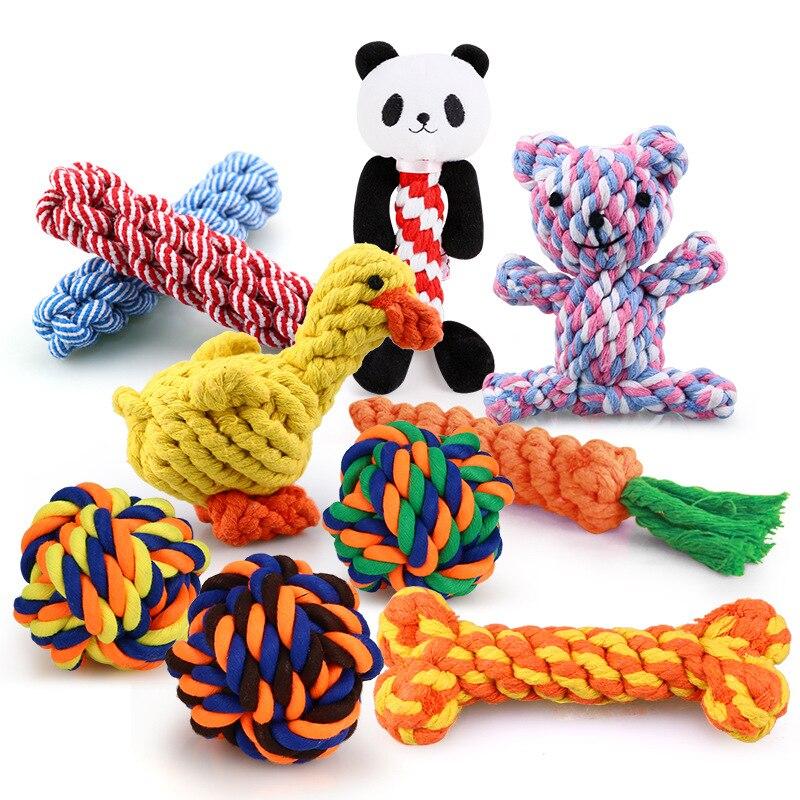 1 Stuks Bite Slip Hond Kauwen Speelgoed Voor Kleine Honden Reinigen Tanden Puppy Hond Touw Knoop Bal Speelgoed Spelen dieren Honden Speelgoed Huisdieren|Honden Speelgoed| - AliExpress