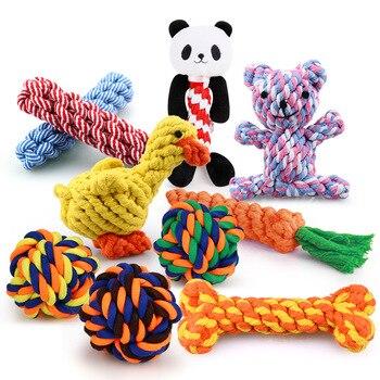 1 шт., устойчивые к укусам жевательные Игрушки для маленьких собак, чистящие зубы, веревка для щенка, шарик с узлом, игрушка, игра в животных, игрушки для домашних животных