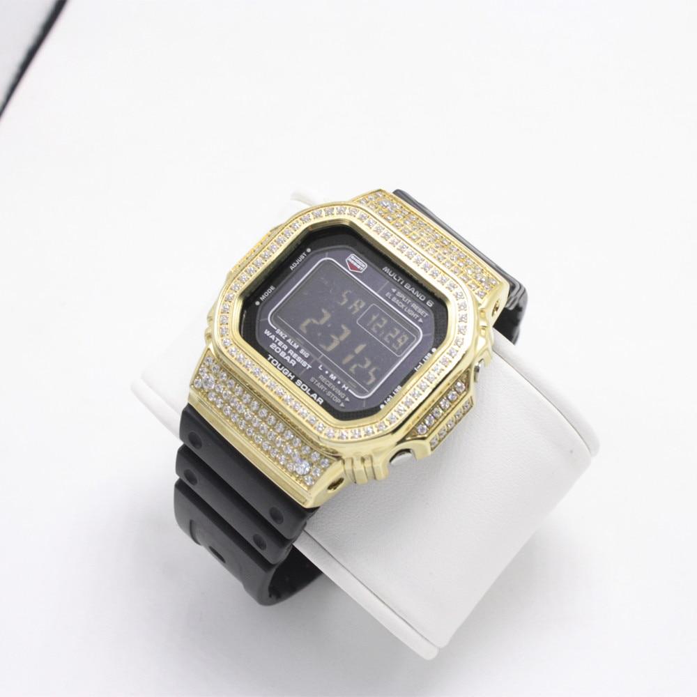 Diamond Metal Watch bezel Case For DW5600/5610 GW-5000 5035 Stainless Steel Watchband Frame for Bracelet Watch Accessory Tool