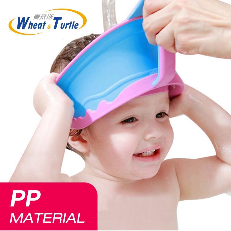 Hair Wash Shampoo Shield Waterproof Splashguard for Infant Children Baby Kids Bath Visor Hat Adjustable Baby Shower Protect Cap