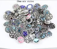 2015 new hot 50pcs/lot many kinds shaped alloy rhinestone 18-20mm Snap jewelry leather bracelet watch Button Jewelry