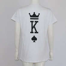 Fashion Graphic Tumblr Poker Printing King Queen Heart Streetwear Tshirts 2018 Summer Women Men Short Sleeve Casual Couple Lover