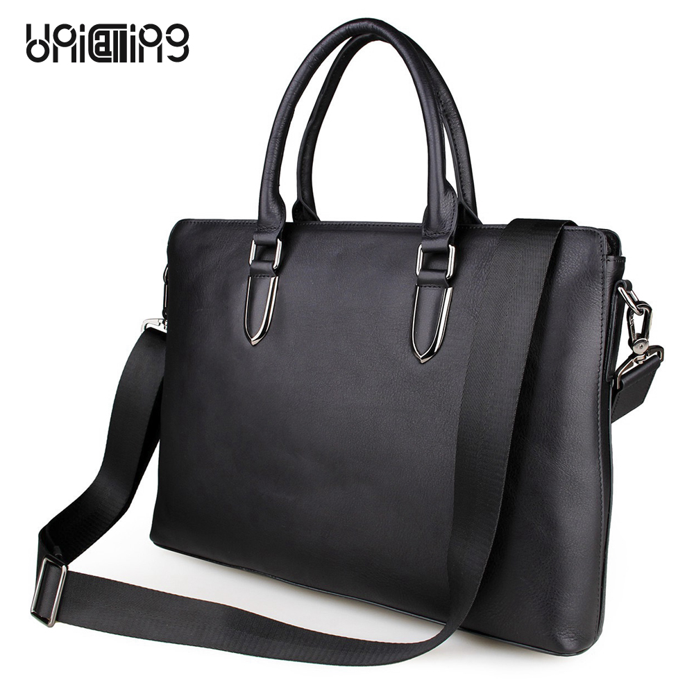 Laptop bag 15.6 inch brief fashion genuine leather laptop shoulder bag laptop messenger bag luxury leather laptop bag handbag