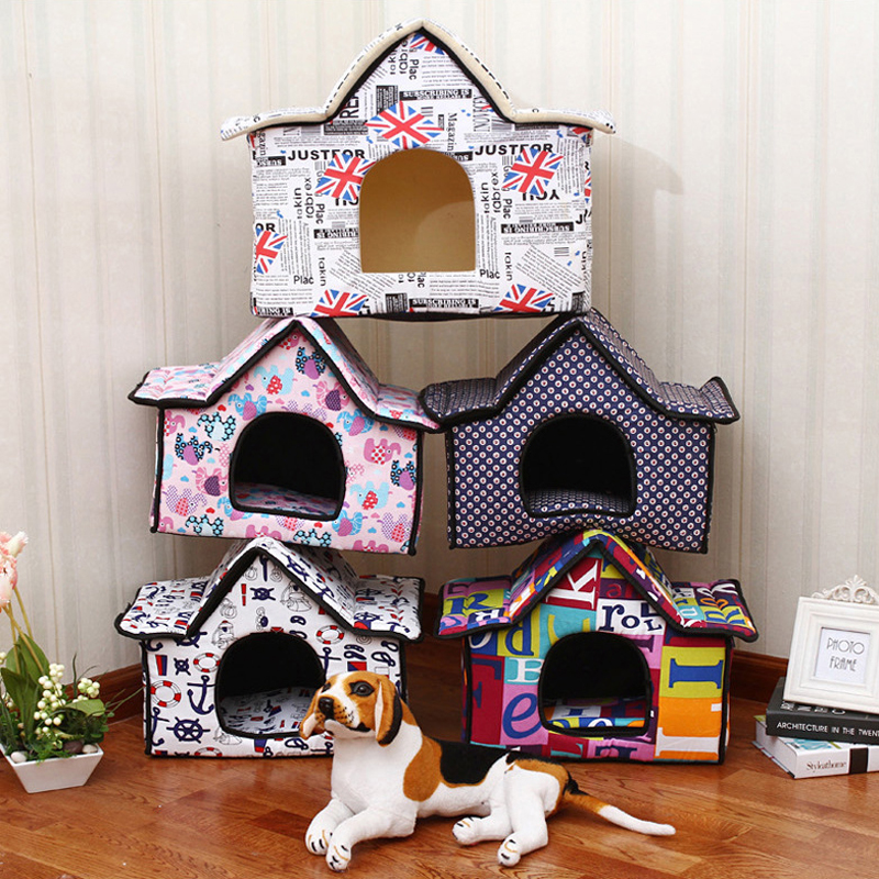5 Estilos Nueva Lona Impresa Campanario Casa de Perro Camas Para Perros para Per