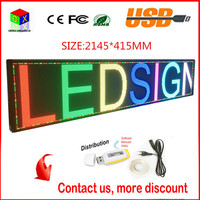 P6 Full Colour 2145x415mm RJ45 And Usb Programmable Rolling Information P6 Indoor Led Display Screen