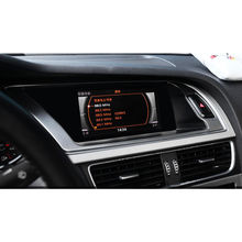 Для Audi A4 B8 A5 2013-2015 консоли автомобиля Предупреждение свет Панель крышка отделочный стикер Нержавеющаясталь стайлинга автомобилей