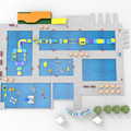 KK Aufblasbare werkstatt große aufblasbare aqua park Europa projekt