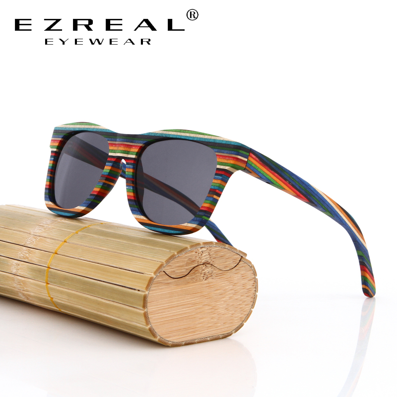EZREAL 2016 New Men Women Handmade Bamboo Sunglasses Eyewear Eyeglasses Wood sunglasses HD polarized