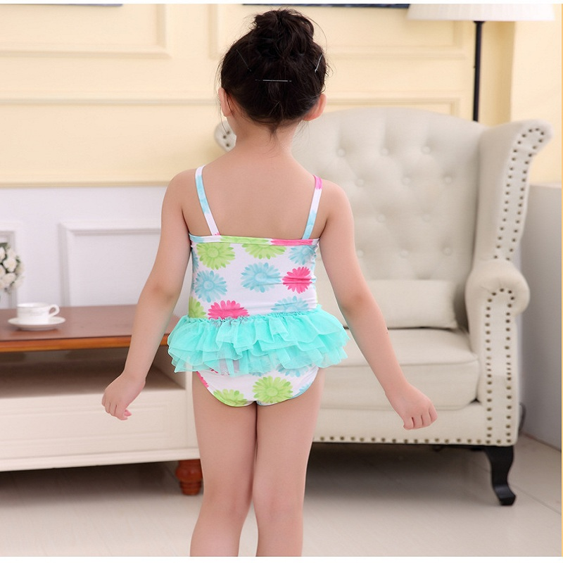 1318be23e1 2018 Summer Colorful Daisy Flower Printed Girl s Swimwear One Piece Swimsuit  Cute Kids Children Beachwear Swimming Suit-in Children s One-Piece Suits  from ...