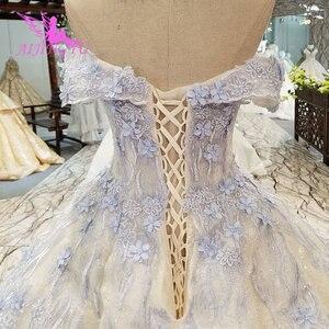 Image 3 - AIJINGYU خمر زي العرائس حديقة ثوب الكمال المشاركة ريفي Frocks وفساتين جذّاب مزين بالترتر فستان أبيض بسيط