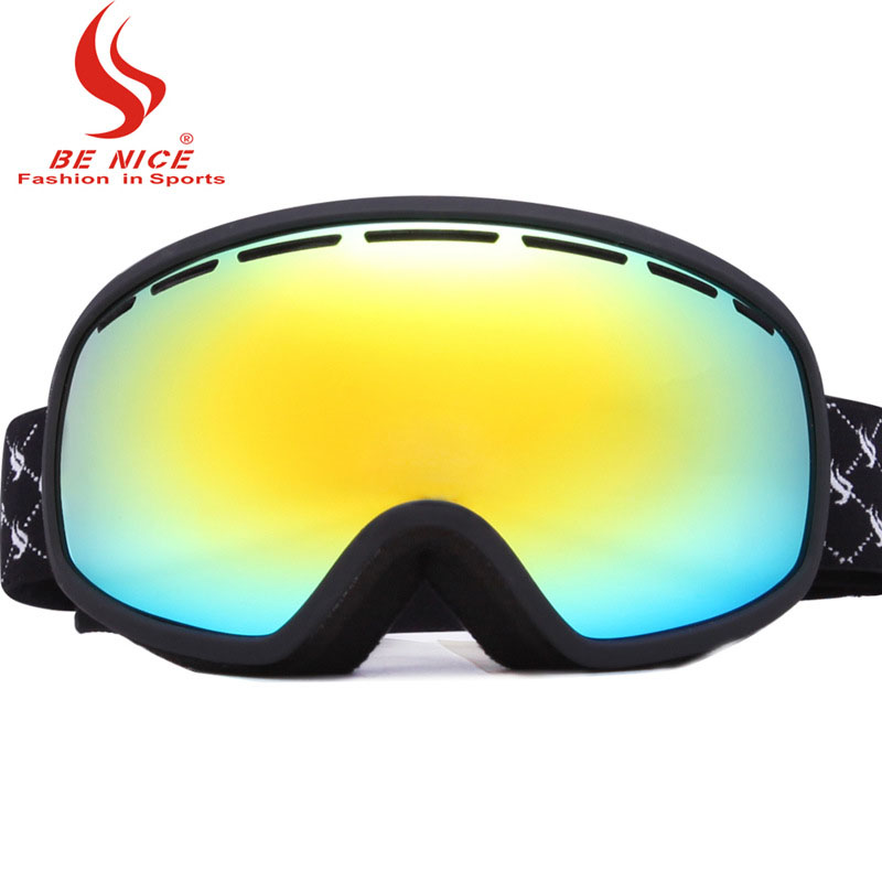 Spherical 2018 Ski Goggles Men Polarized Eye Protection Double Layer Anti-Fog UV Mountaineering Mirror Skiing Glasses BN514