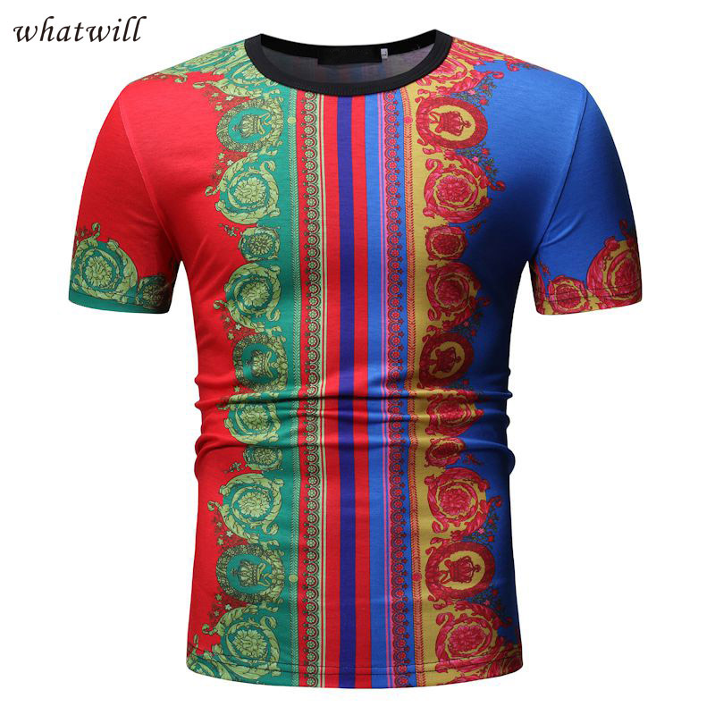 Africa Clothing T-shirts Mens African Dress Clothes Hip Hop Dashiki Robe Africaine Fashion  Tee Shirt Homme