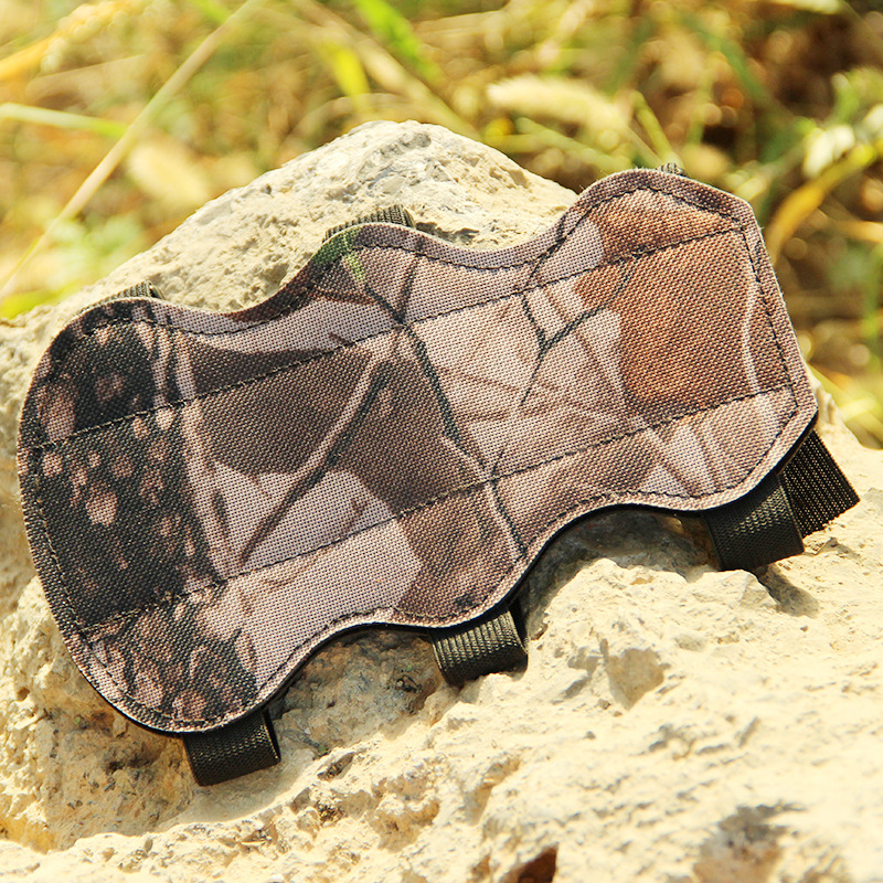 Camouflage Arm Guard Shooting Archery Arrow Leather 3 Strap Shooting Target Arm Guard Protection Safe Strap  Compound Bow