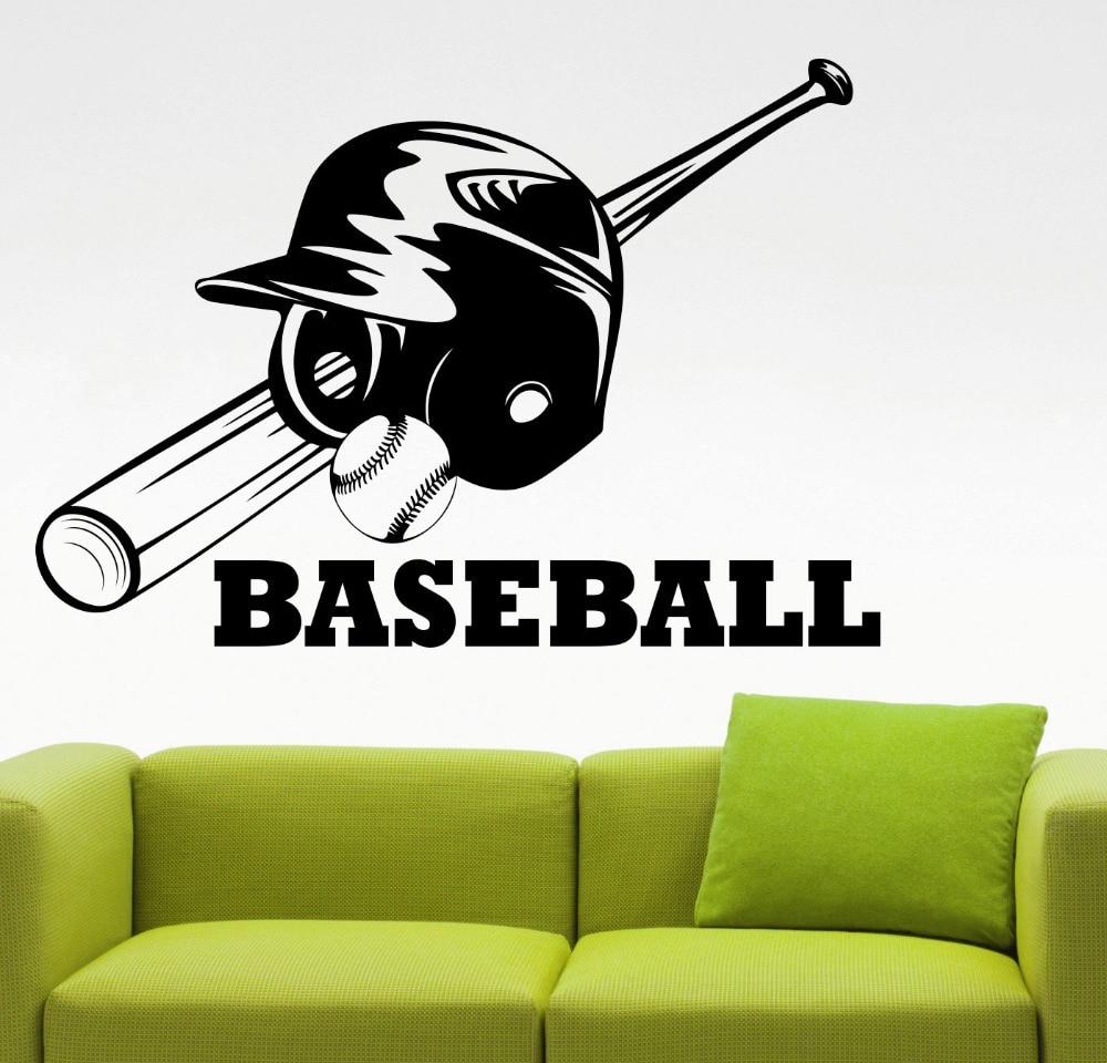 Baseball Wall Decal Vinyl Sticker Home Interior Decorations MLB Sports Art Kids Boys Living Room Bedroom Decor Mural A156