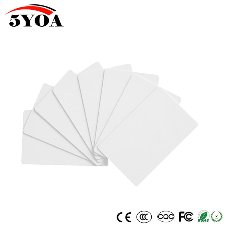 50pcs EM4305 T5577 Blank Card RFID Chip Cards 125 Khz Copy Rewritable Writable Rewrite Duplicate 125khz