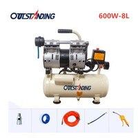 Quiet oil free Air Compressor 600W 8L For Autoclave Bubble Remover And OCA Vacuum Laminator