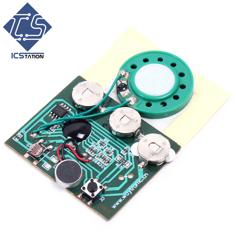 5pcs Self-Made Voice Module Photosensitive Recording Music Chip DIY Kit Sound Module Greeting Cards for Birthday Gifts new 220v photosensitive portrait flash stamp machine kit self inking stamping making seal holder film pad no ink