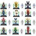 Ninjago minifigures Nuevo 24 unids/lote Ninja Building Blocks Figuras Ladrillos Modelo Juguetes para niños niños Compatible 2017 Minifigures