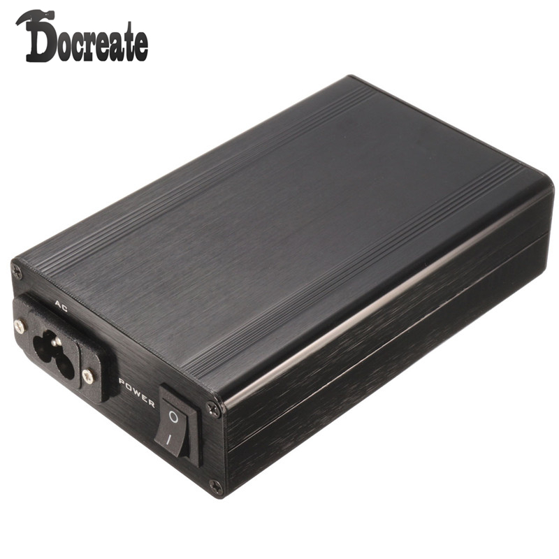 T12 Digital Soldering Iron Station Aluminum Black Shell Case With Power Socket Switch