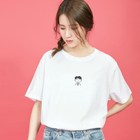 Cute Simple boy print cotton T Shirt for woman Casual Funny brand Shirt Graphic Tees summer tops Hipster Tumblr drop ship