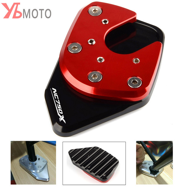 Picks items For HONDA NC750X NC 750X 2017 2018 New Red Motorcycle Accessories Kickstand Sidestand Stand Extension Enlarger Pad