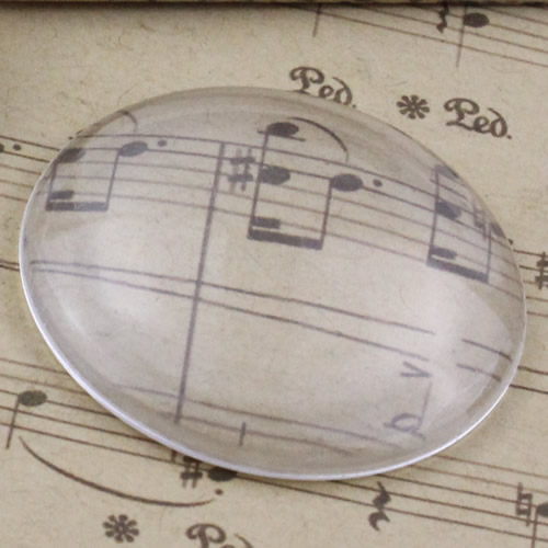 50mm Thickness: 10.5mm 1pc Round Flat Back Clear Glass Cabochon Dome Cameo Jewelry Finding (K2907)