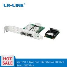 LR LINK 2203PF 2SFP デュアルポートミニ pci e ファイバアダプタインテル I350 ギガビット光ネットワークインタフェースカード (2xsfp)