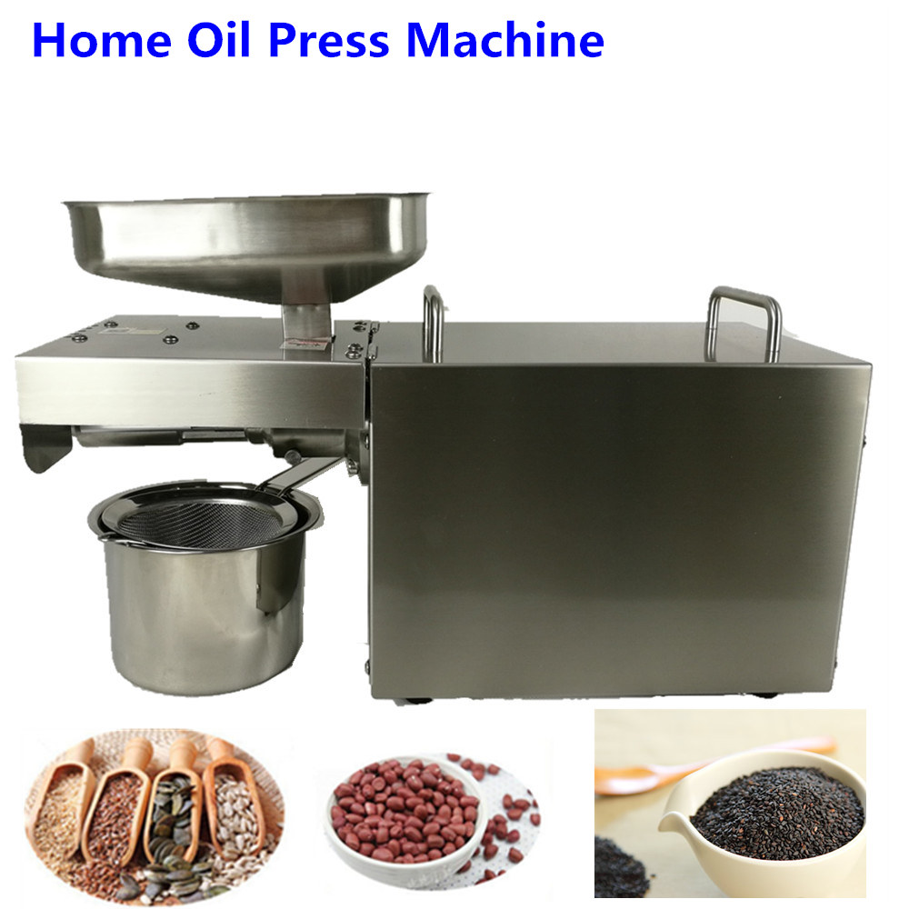 Manual  Seed oil extraction machine mini cold press oil machine  stainless steel  CE approved home use home use automatic oil press machine electric nuts seeds oil pressure stainless steel oil extraction hot and cold pressing machi