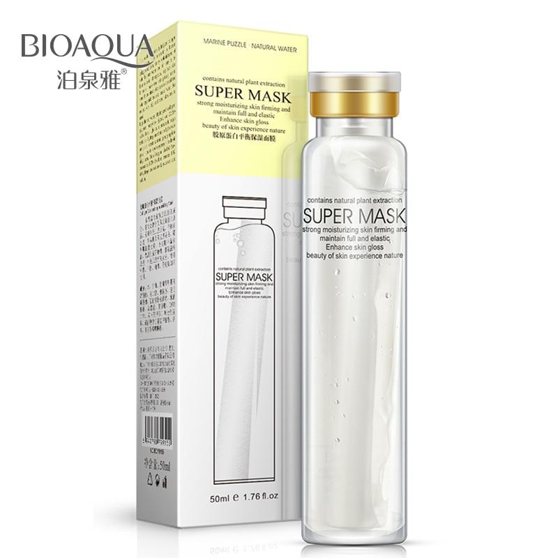 BIOAQUA Collagen Nourishing Mask Whitening Anti-Wrinkle Super Facial Treatment Mask Acne Treatment Skin Care Beauty Essentials
