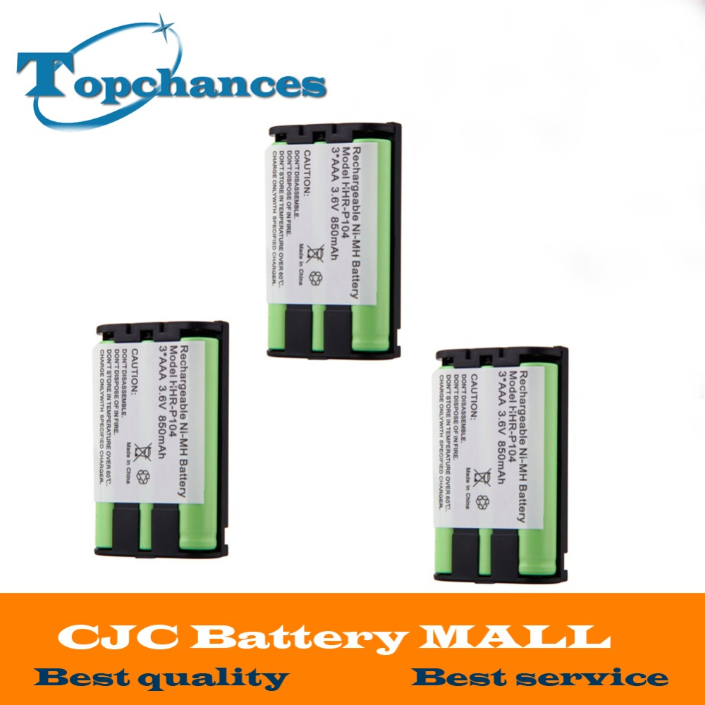 High Quality 4pcs Ni-mh 850mah 3.6v 3*aaa Hhr-p104 Hhr-p104a/1b Rechargeable Cordless Home Phone Battery For Panasonic Power Source